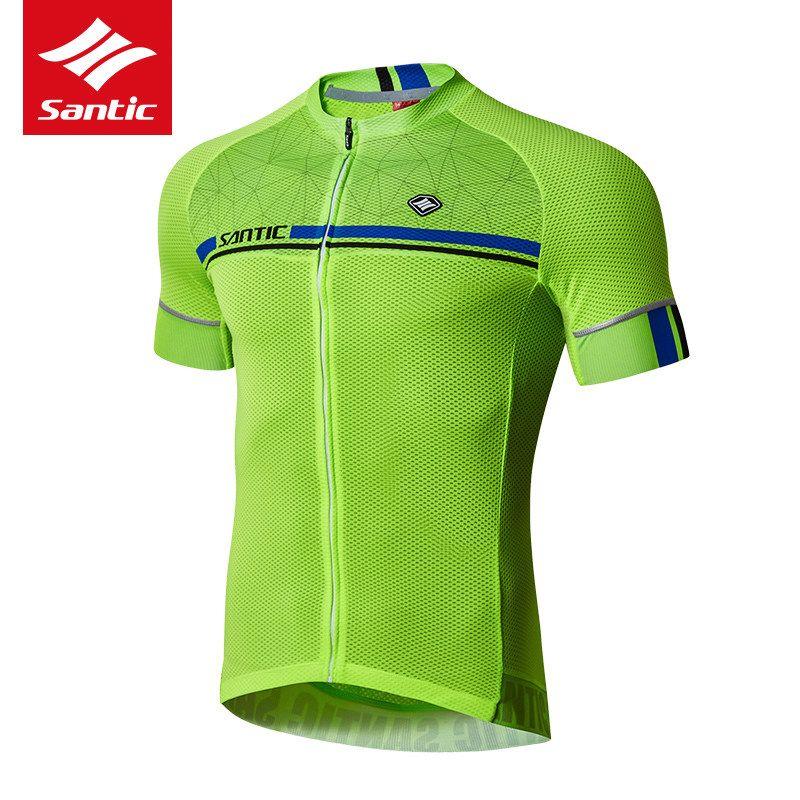 Santic Vélo Jersey 2018 Pro Équipe Hommes Mountain Road Vélo Jersey À Manches Courtes Respirant Vélo DH Jersey Cyclisme Vêtements