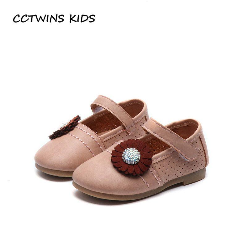 CCTWINS NIÑOS 2018 Niños Del Resorte Rhinestone de La Princesa Fiesta de La Moda de Zapatos Del Bebé Niño Plana Marca Mary Jane Rosa G1640