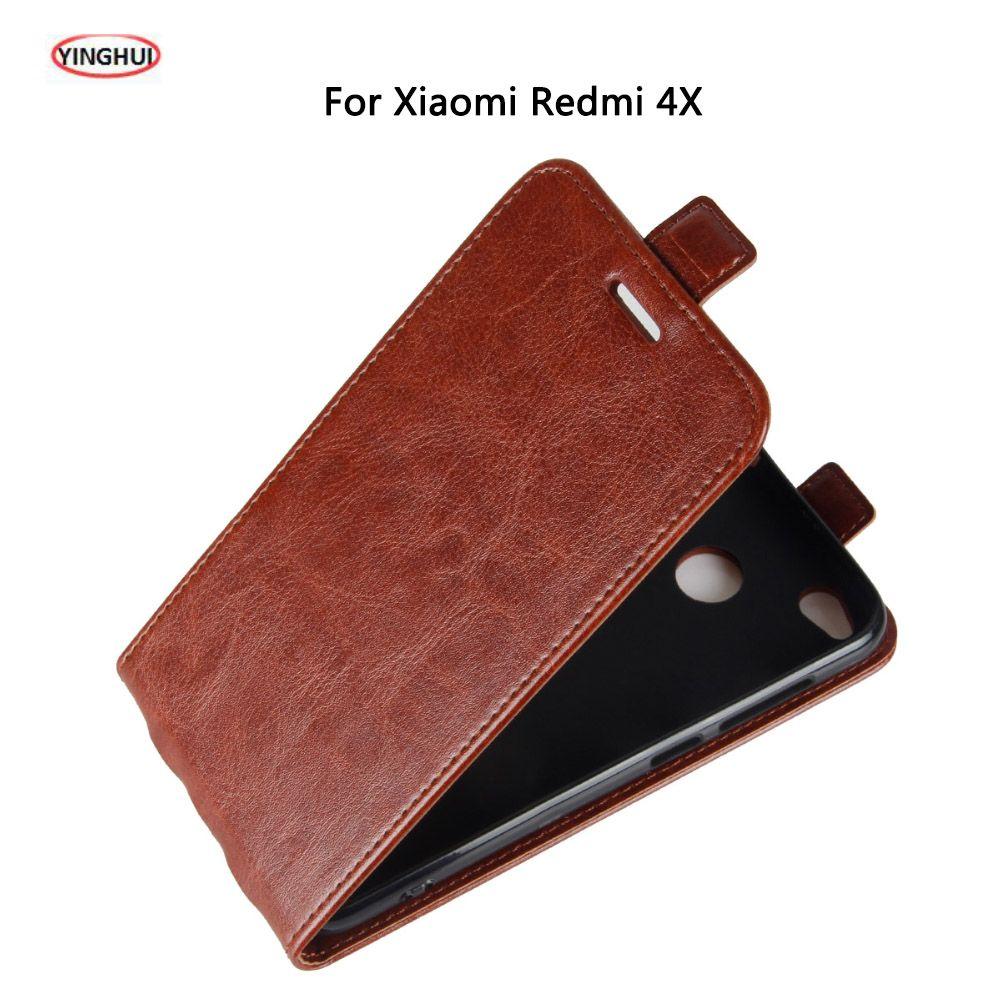 YINGHUI Pour Xiaomi Redmi 4X cas 5.0 De Luxe Silicone TPU Flip en cuir de Couverture Arrière Coque Pour Xiaomi Redmi 4X Pro Cas Fundas par