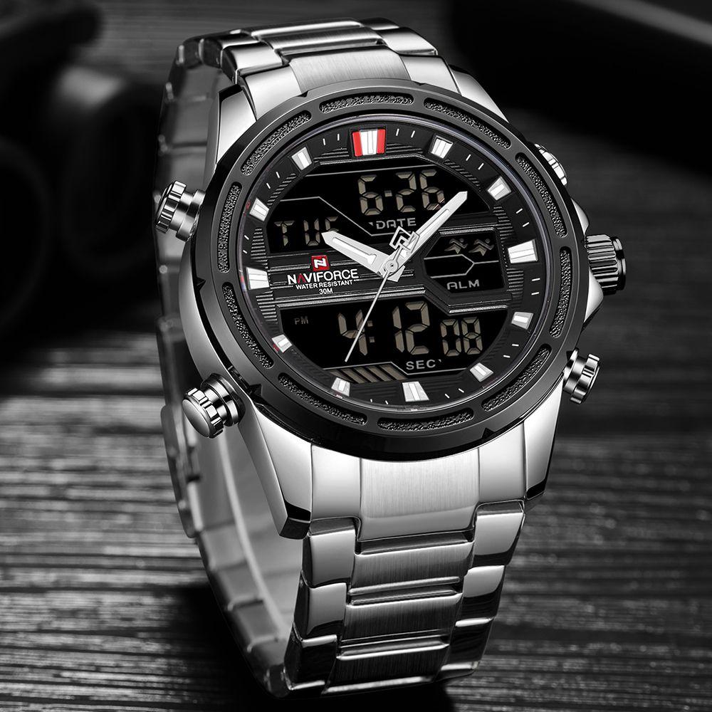 Neue NAVIFORCE Herren Analog Uhr Luxus Mode Sport Wasserdicht Quarz Armbanduhr Alle-Stahl Männlichen Uhren Uhr Relogio Masculino