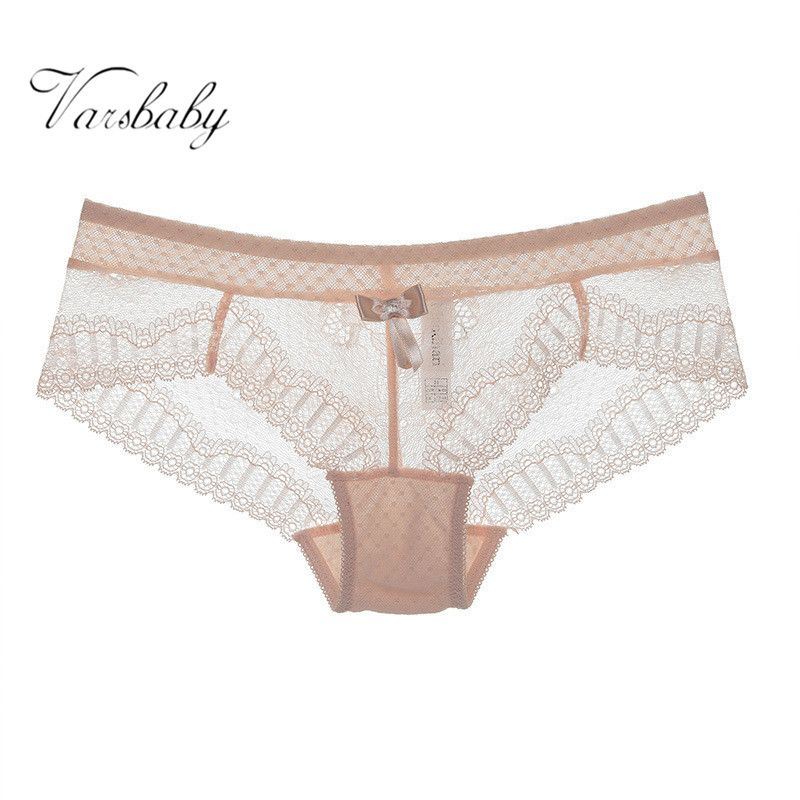 Varsbabay Hot Women Sexy Seamless Cotton Breathable Temptation Panties Hollow Lace M / L