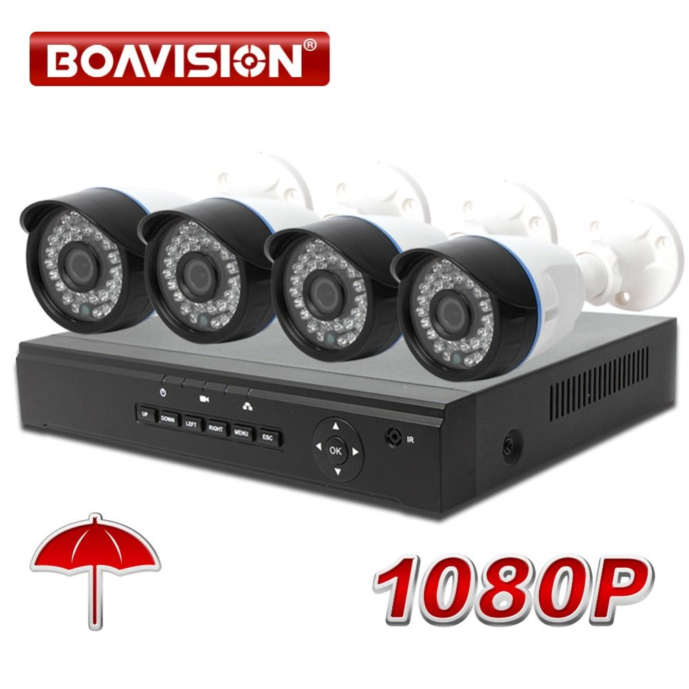 4CH 1080P POE NVR System kit Network Security Home Video Surveillance Bullet 4 Channel 1080P NVR CCTV 2MP IP Camera System Kit