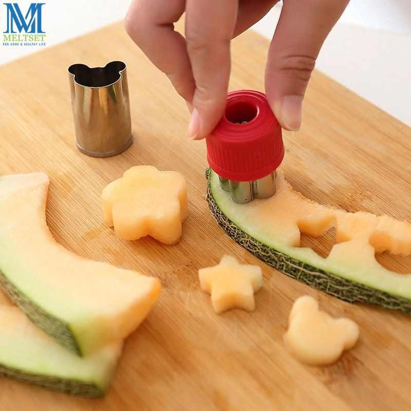 8 pcs/ensemble Fleur Étoiles Forme Légumes Fruits Cutter Moule Moule Trancheuse Broyeur En Acier Inoxydable pour le Gâteau Biscuit Sushi Biscuit Alimentaire