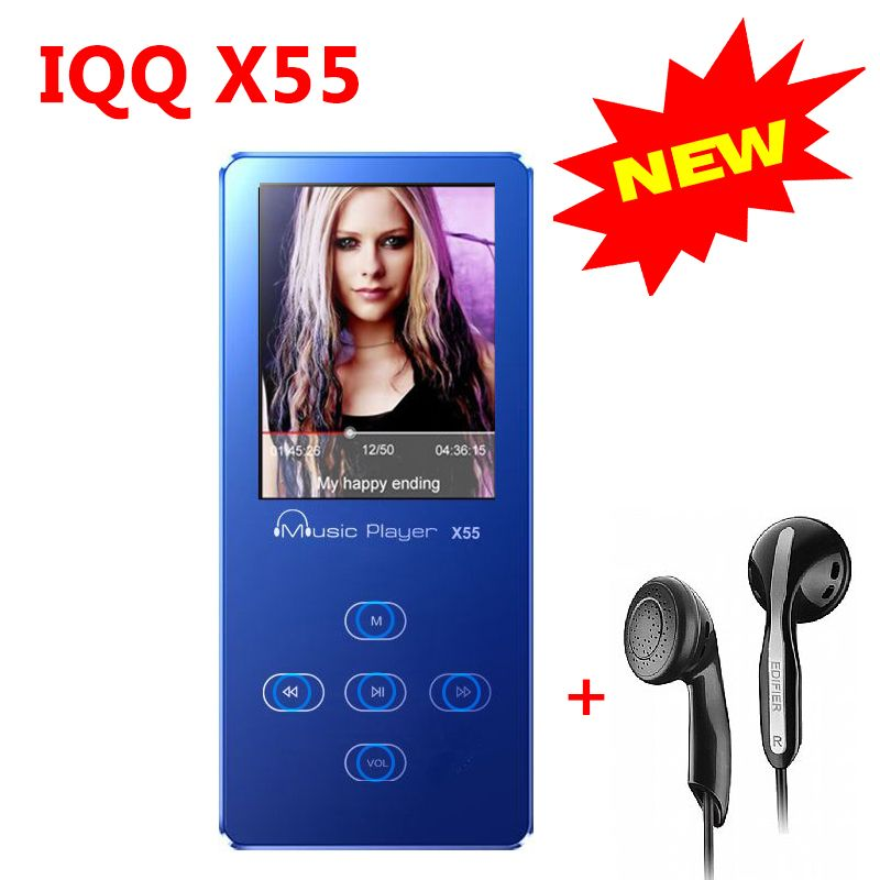 Aluminum Alloy Touch Screen mini usb MP3 Player with Built-in Speaker lossless HiFi mp 3 player with radio walkman IQQ X55 mp 4