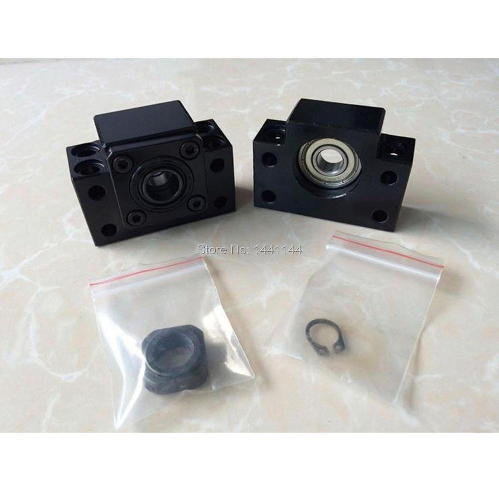 RU Lieferung BK12 BF12 1605 1604 1610 kugelumlaufspindel Ende Unterstützung CNC Teile für SFU1605 SFU1604 SFU1610