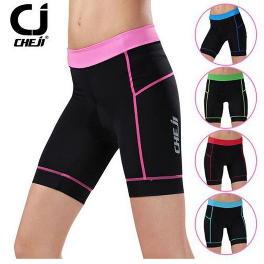 CHEJI New Hot Sale Women cycling shorts 3D Padded Bike Bicycle Riding Shorts Ladies Tight Quick-Dry