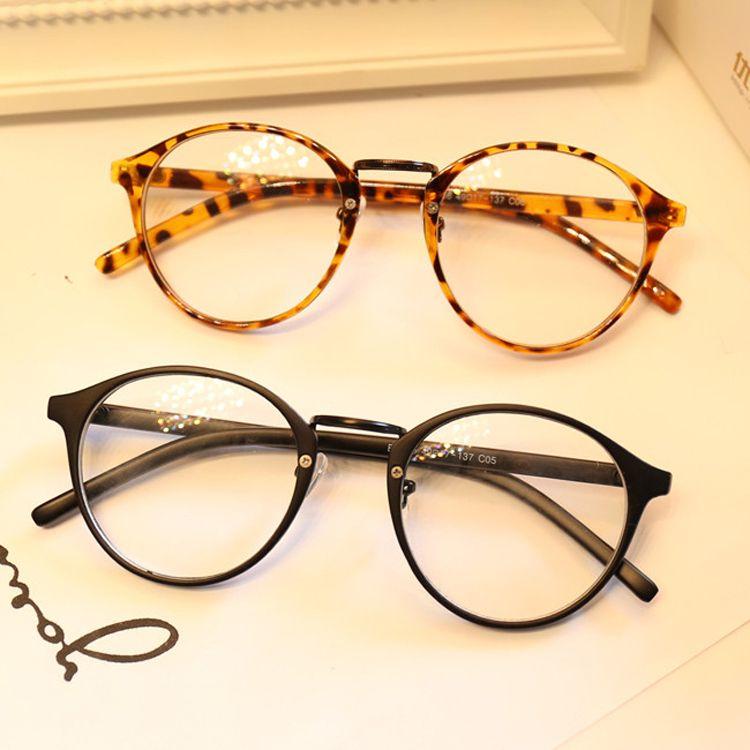 DRESSUUP Cute Style Vintage Glasses Women Glasses Frame Round Eyeglasses Frame Optical Frame Glasses Oculos Femininos Gafas