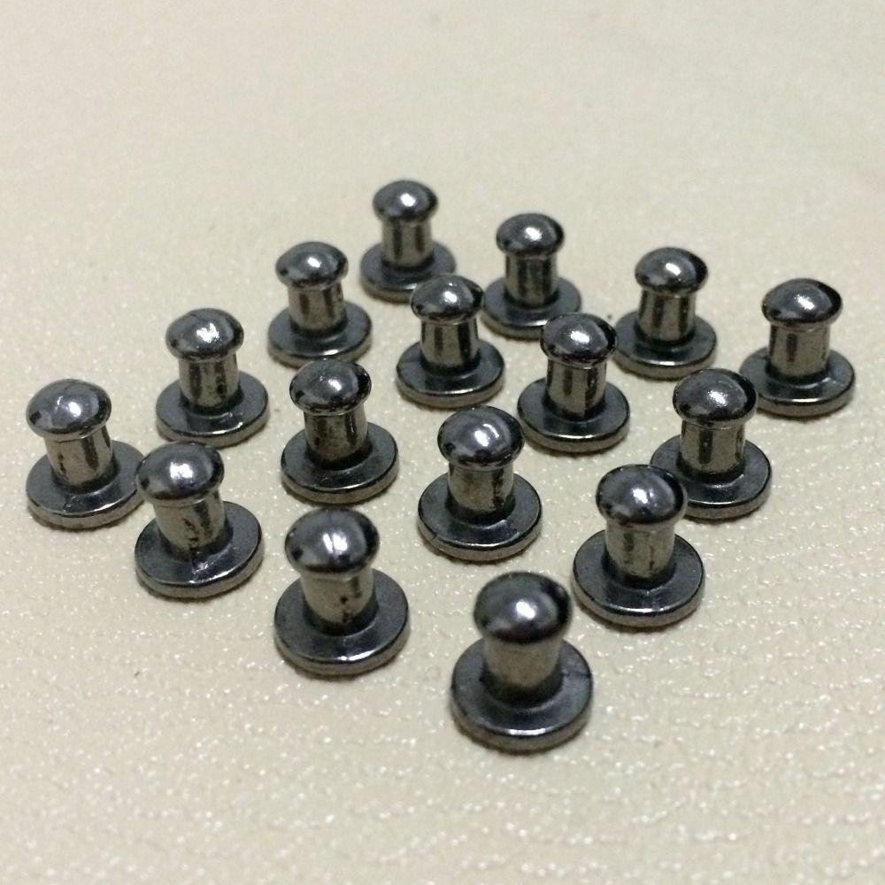 100 pièces 8X5X8 MM pistolet métal noir fond rond pointes métal goujons Rivets vissage taches cône cuir artisanat pointes Fit bricolage fabrication