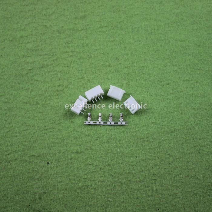 100sets/Lot 4 Pin Connector Leads Header 2.54mm XH-4P Kit Housing Pin header Terminal