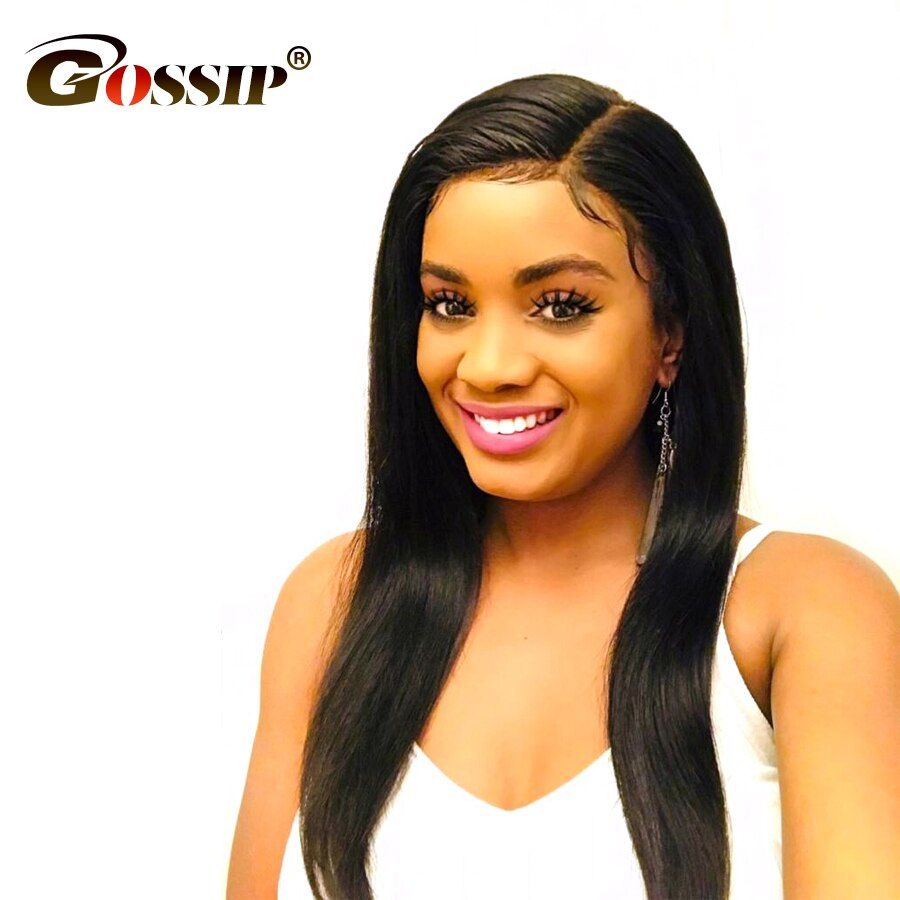 Gossip Hair Lace Front Human Hair Wigs Malaysian Straight Lace Front Wigs For Black Women Long Human Lace Front Wigs For Women