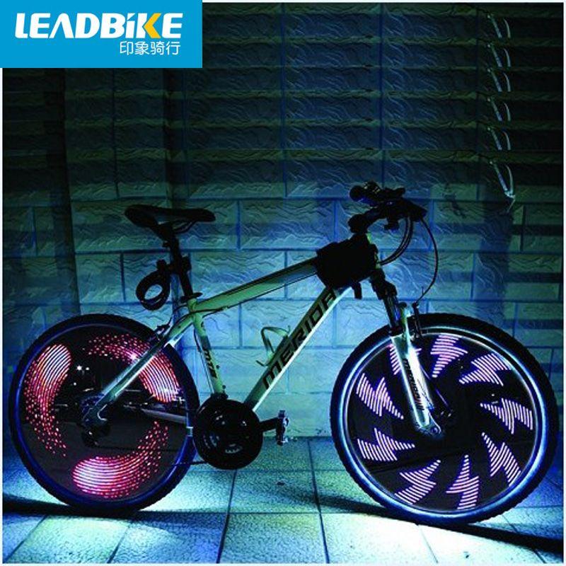 Leadbike Fahrrad-rad Licht Doppelanzeige 21-Muster Mit 32 RGB Led-leuchten Lampe für Bikes Freies Verschiffen