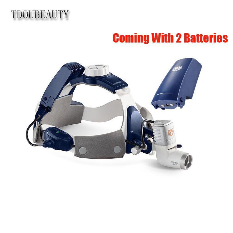 TDOUBEAUTY complètement étanche à la poussière 5W LED chirurgical dentaire phare lampe phare KD-205AY-2 (à venir avec 2 Batteries)