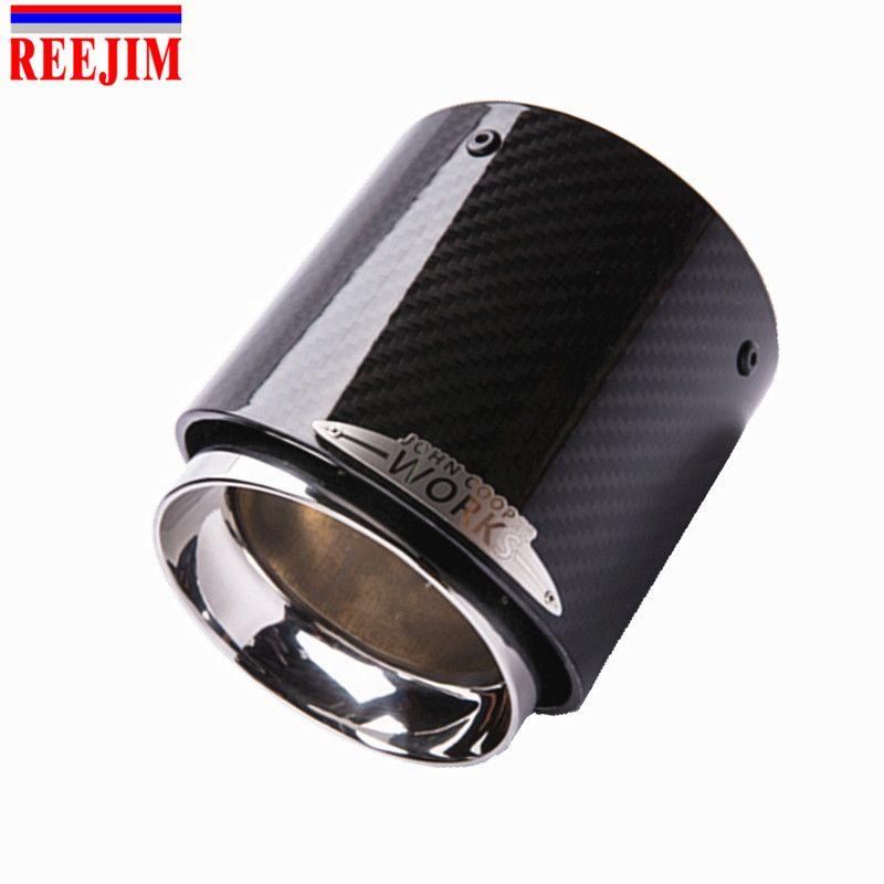 1 stück auto carbon fiber auspuff tip Muffler tipps fit für mini cooper R55 R56 R57 R58 R59 R60 R61 f54 F55 F56 F57 F60