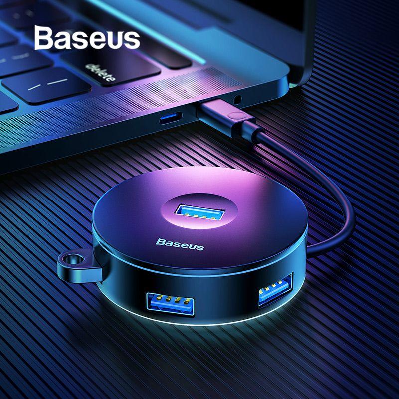 Baseus USB HUB USB 3.0 USB C HUB for MacBook Pro USB Type C HUB USB 2.0 Adapter with Micro USB Ports for Computer Accessories