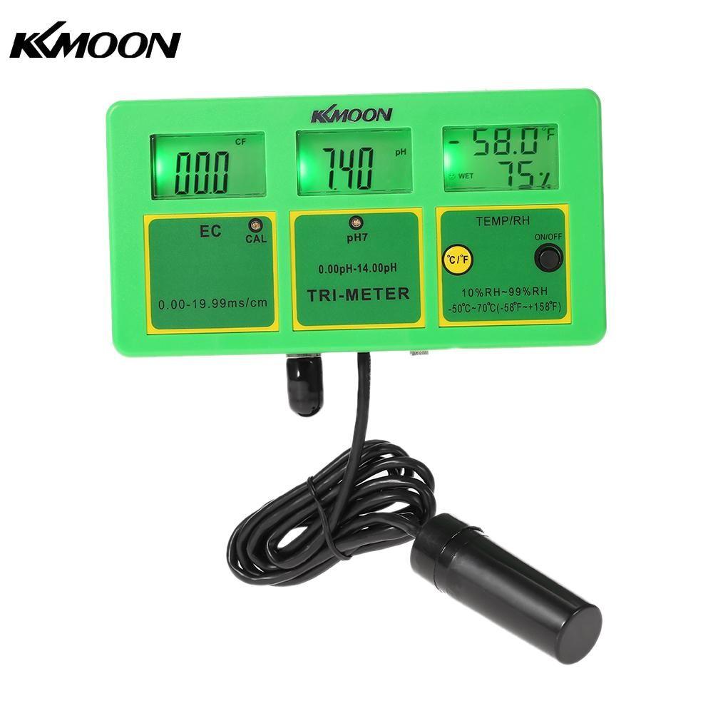 4 in 1 Multi-parameter Water Testing Meter Digital LCD Multi-function Monitor pH / RH / EC(TDS) / TEMP Water Quality Tester