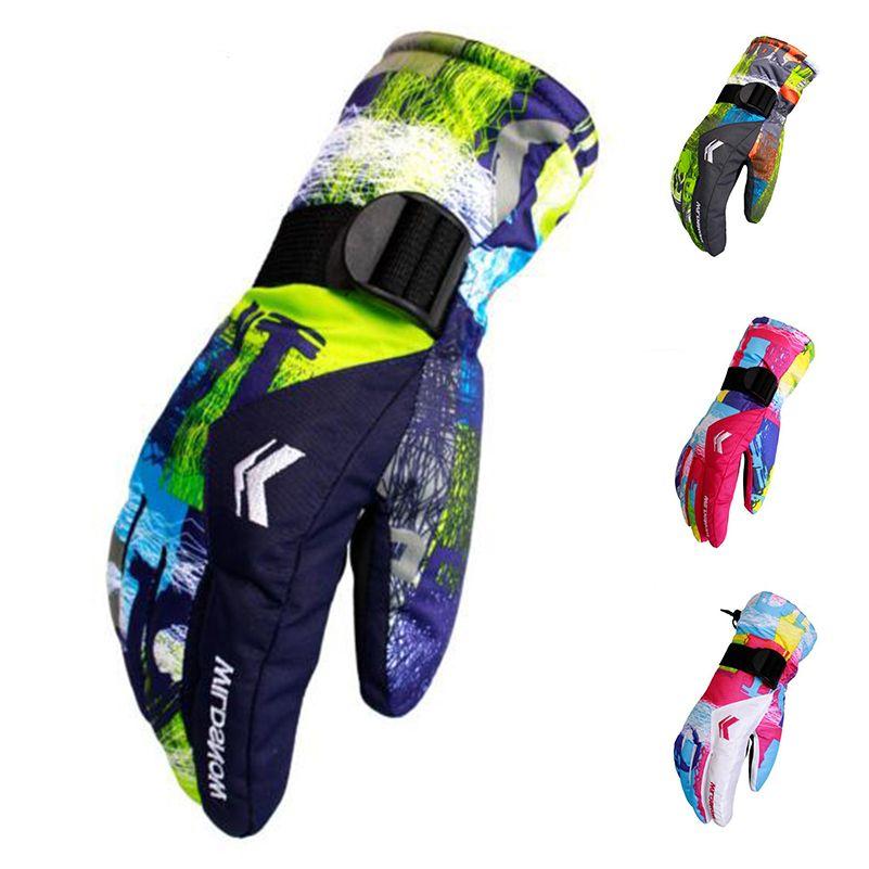 Neuen männer Ski-handschuhe Fleece Snowboard Handschuhe 2017 Snowmobile Motorrad-reiten Winter Handschuhe Winddicht Wasserdicht Schnee Handschuhe