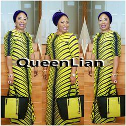 2017 African dashiki nuevo dashiki tradicional moda patrón partido elástico estupendo de Bazin del diseño para la señora