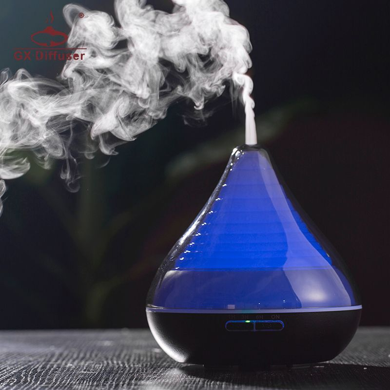GX.Diffuser Hot Changeable LED Lights Essential Oil Aroma Diffuser Aroma Humidifiers Aromatherapy Air Purifier Home Office Yoga