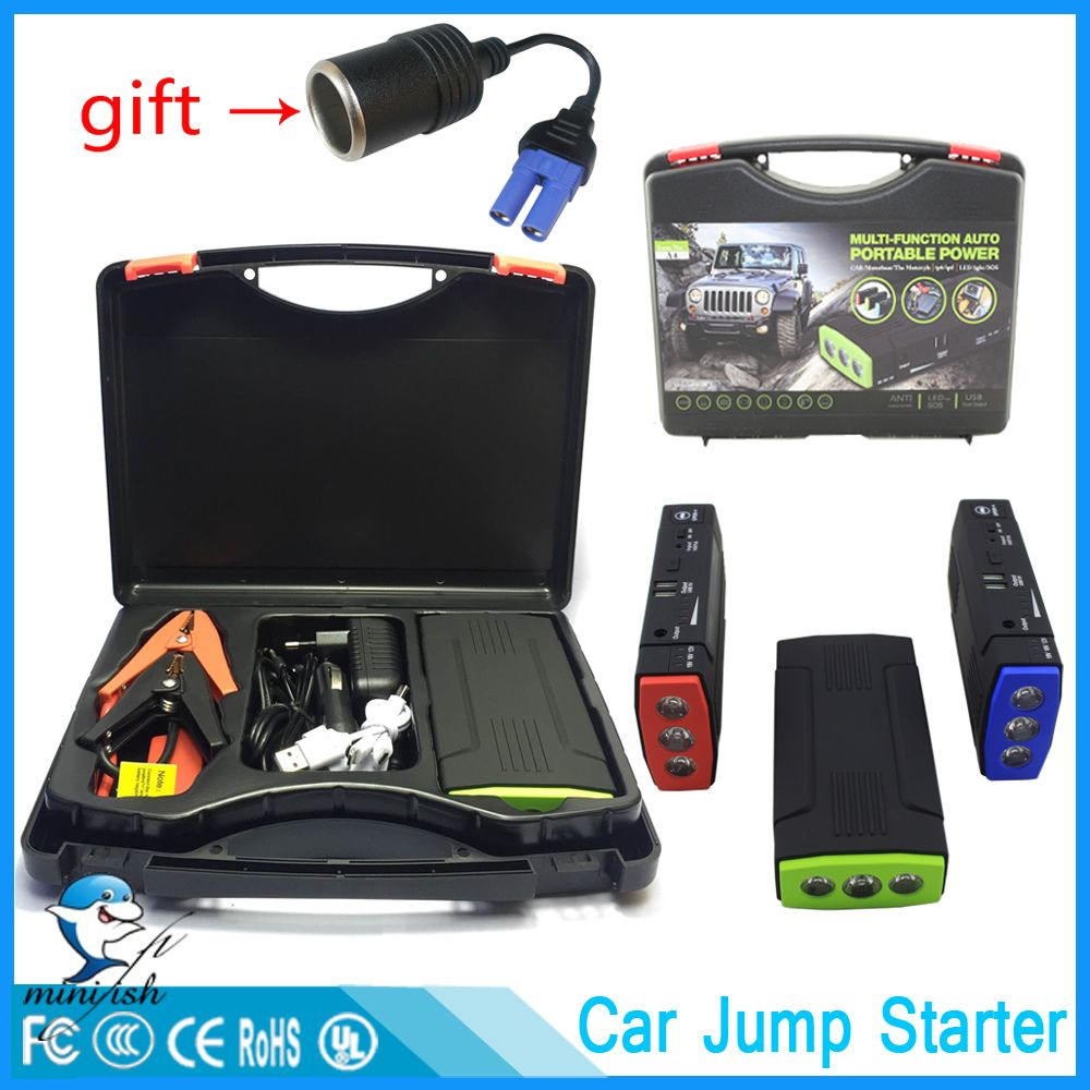 Mini Portable 68000mAh Car Battery Charger Starting Car <font><b>Jump</b></font> Starter Booster Power Bank For A 12V Auto Starting Device