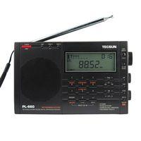 Бесплатная Доставка TECSUN PL-660 FM Стерео LW MV SW SSB AIR PLL Радиоприемник