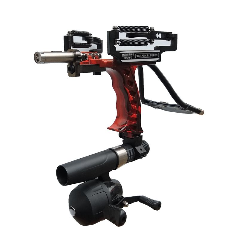 New 1Set Powerful Multifunction Slingshot For Fishing Shooting Bow + Fishing Reel Red Light Hunting Arrow Rest High Quality