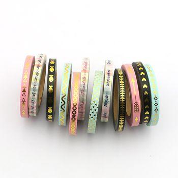 Nouveau 3 pcs série mince washi bande ensemble 5mm * 7 m de la ligne de Séparation rubans de masquage décoration Autocollants Papeterie fournitures scolaires