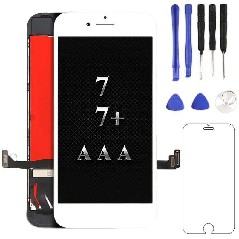 100% test pour iphone 7 7 plus 8 8 plus lcd affichage AAA qualité aucun pixel mort pour iphone écran digitizer assemblée remplacement