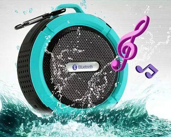 Portable En Plein Air Bluetooth3.0 Haut-Parleur Étanche Sans Fil Mini Haut-parleurs Haut-parleurs avec Ventouse pour iphone Samsung C6