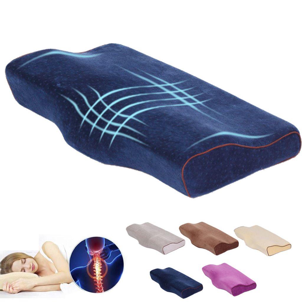 Oreiller en mousse à mémoire de forme papillon oreiller Cervical orthopédique oreiller Cervical soins de santé rebond lent oreillers de couchage literie