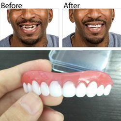 Professionnel Parfait Sourire Instantané Comfort Fit Flex Faux Dentiers Dents Top Cosmétique Dentaire Dentaire De Silice Gel Rangée Supérieure