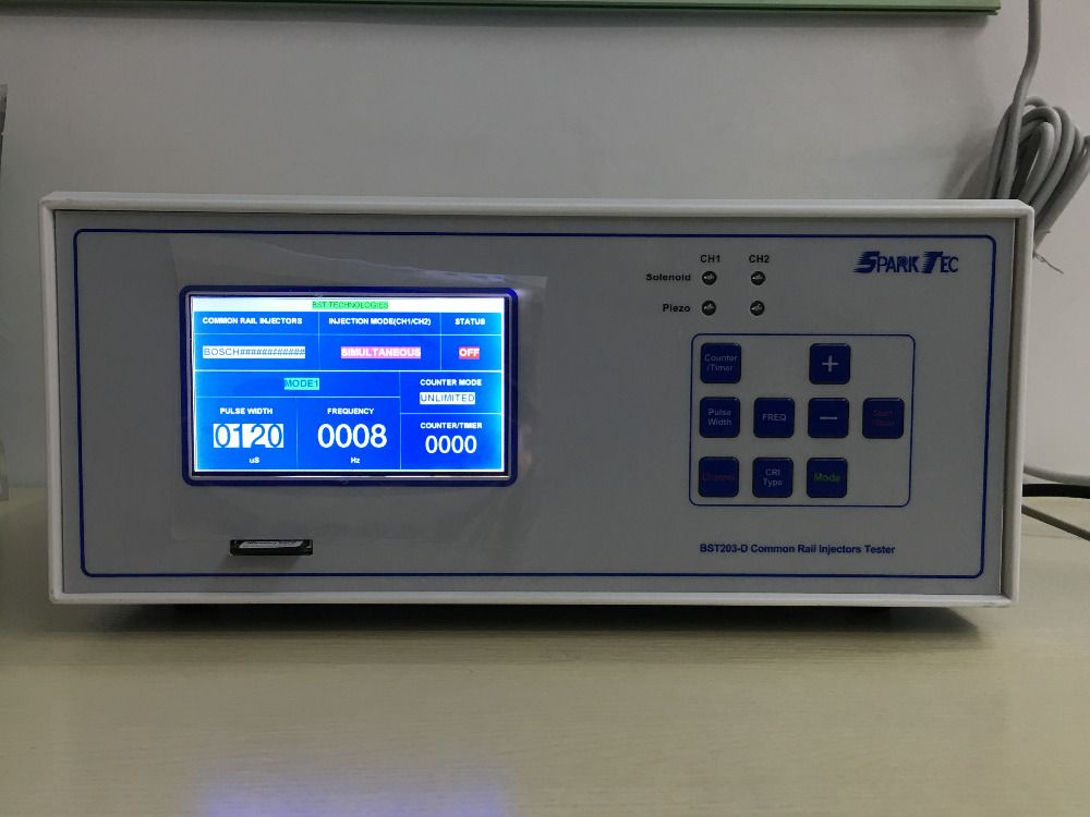 New Research 2 Channels Testing Together BST203-D piezo and electromagnetic common rail injector tester
