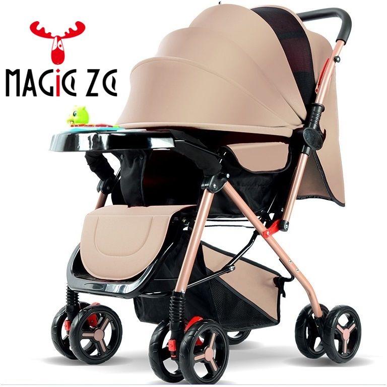 EU & RU KEINE STEUER Baby kinderwagen leichte falten regenschirm kinderwagen Zwei-weg Schieben 4 jahreszeiten können sitzen können liegen kinderwagen baby Buggy