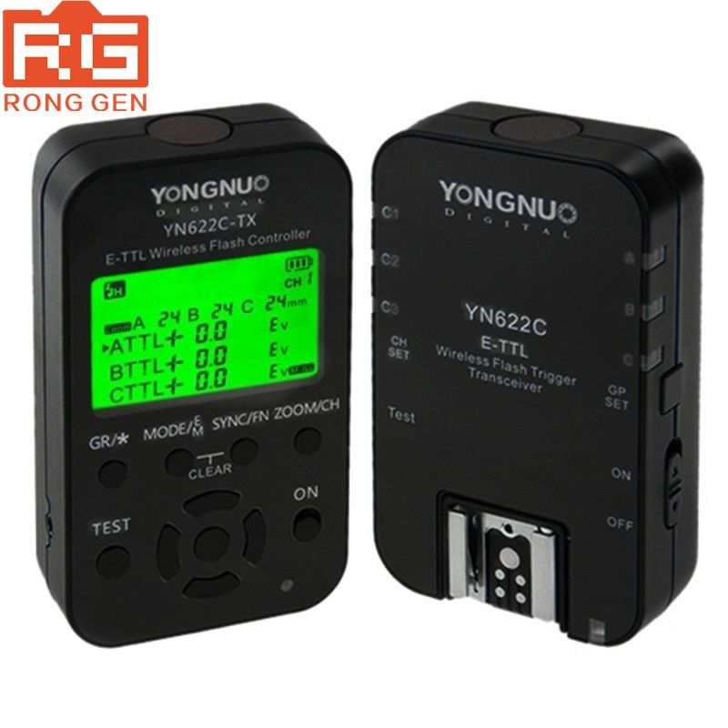 Original Yongnuo YN-622 TX YN 622C ETTL Flash Trigger With Transceivers For Canon Camera Wireless Triggers Flash Studio