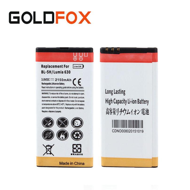 Qualité 1 pc 2150 mah BL-5H Remplacement Batterie Commerciale Pour Nokia Lumia 630 638 636 635 Téléphone portable Batteria