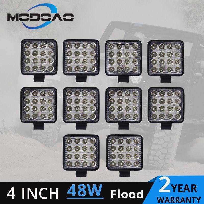 1 ~ 10 stücke 48 W led arbeit licht lampe auto 4x4 ATV LED arbeits lichter 12 V 4,17 zoll Lkw Traktor LED Arbeit Licht flutlicht