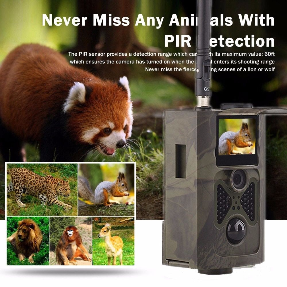 16MP Wireless 3G MMS GPRS SMS Controlled Wildlife Hunting Camera HC550G