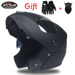 Mejor ventas segura Casco integral motocicleta del casco tirón encima del casco con visera interior todos asequibles tamaño: s, M, L, XL