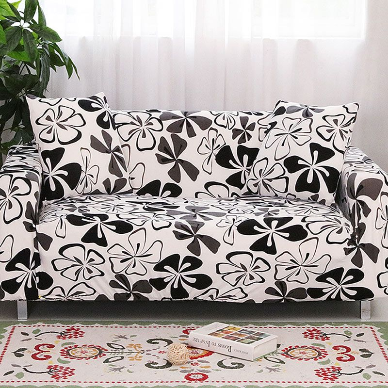 Elastic Sofa Cover Armrest Slipcovers Tight Wrap All-inclusive I shaped Sofa Cover Stretch Furniture Covers 1/2/3/4 seater 1PC