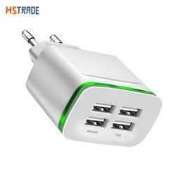 Universal 4 port USB chargeur adaptateur voyage 4A charge LED lampe plug multi port HUB chargeur Pour iPhone iPad Samsung Xiaomi redmi