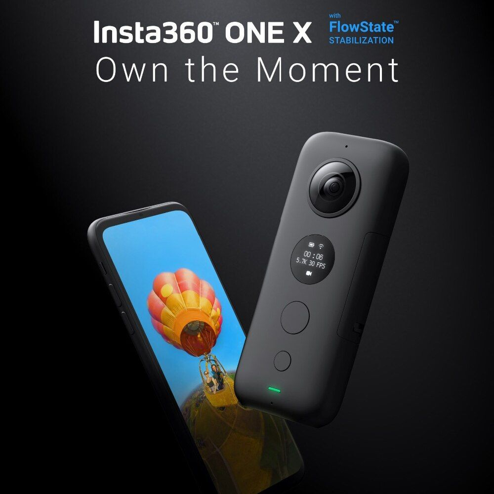 Insta360 ONE X Sport Action Kamera 5,7 K Video VR 360 Für iPhone und Android youtube kamera action cam live streaming video