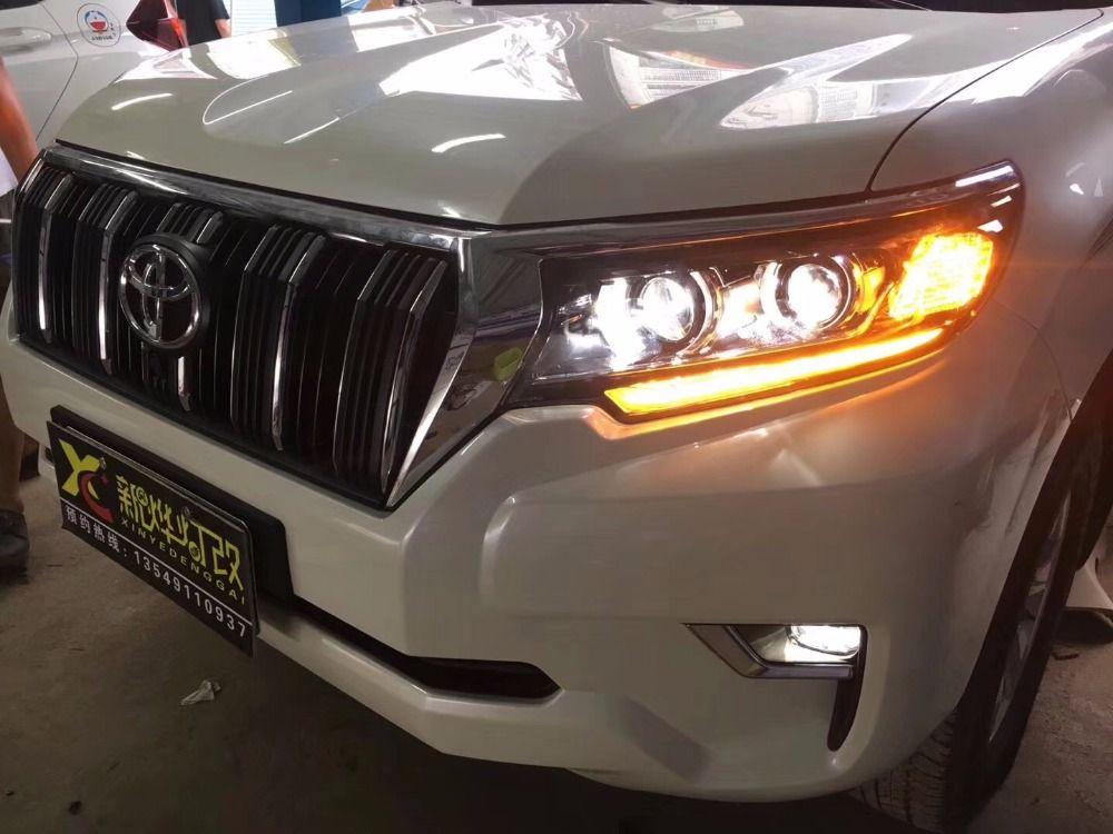 VLAND fabrik für auto Kopf lampe für Für Toyota Prado LED kopf licht 2017 2018 Landcruiser Prado scheinwerfer mit sequentielle signal