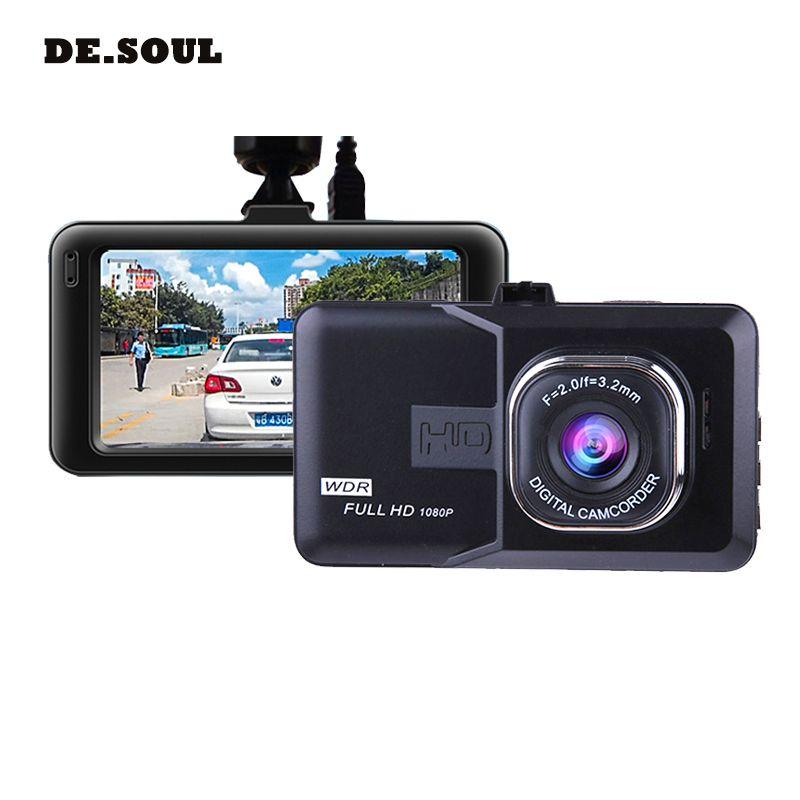 PARASOLANT 120 Wide-angle Car recorder Full HD 1080P Dash cam Loop Recorder English/Russian <font><b>Dashcam</b></font> Clear Night Vision Car Camer