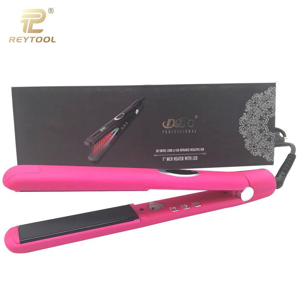 Professional tourmaline ceramic LCD display digital control wet and dry dual use hair straightener hair salon tool drop shipping