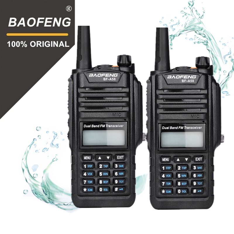 2Pcs 100% Original Baofeng IP67 BF-A58 Marine Waterproof Walkie Talkie 10km Dual Band UV9R Woki Toki UV-9R Two Way Radio Amador
