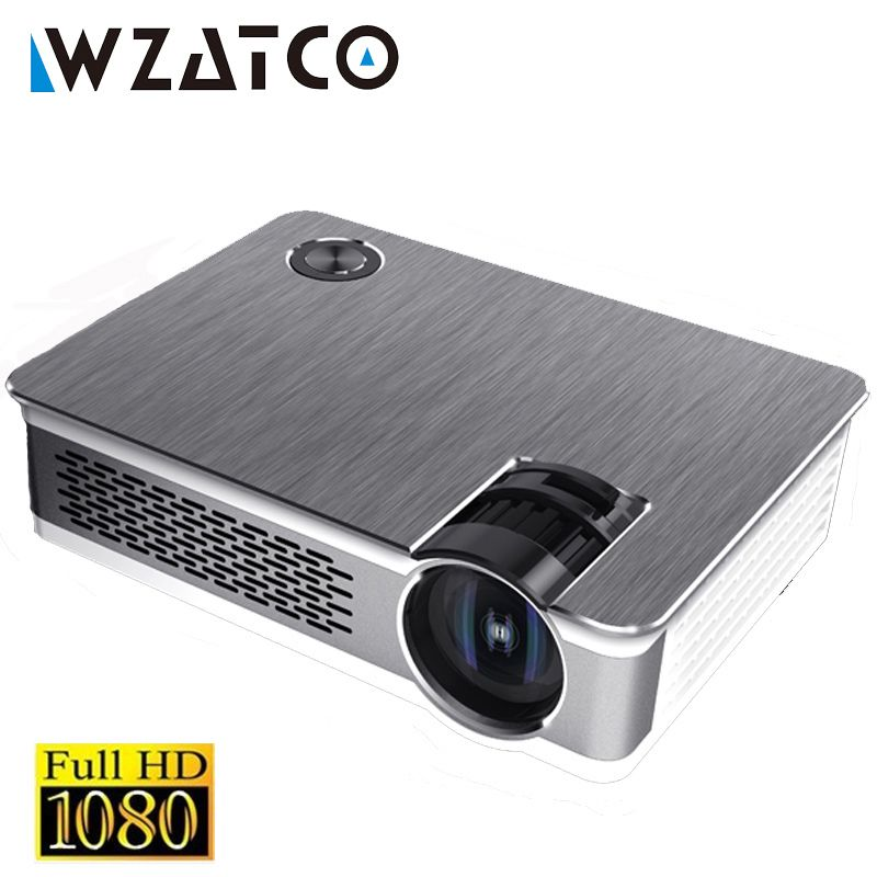 WZATCO CT580 Android 7.1 Full HD LED Projector 3800Lumen Home Theater Portable Real 1080P High Resolution Beamer LED Proyector