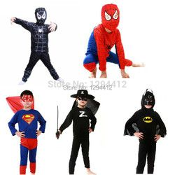 Rouge spiderman costume noir spiderman batman superman halloween costumes pour enfants capes de super-héros anime cosplay carnaval costume