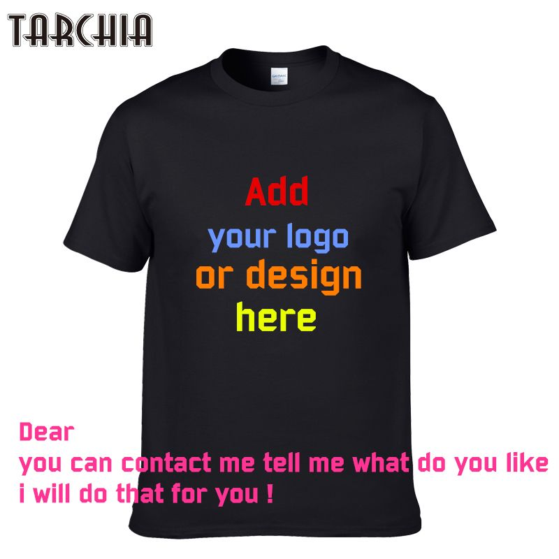 TARCHIA 2018 Printed Personalized T-Shirts designer logo mens t shirt Advertising new boy tshirt short-sleeve tees tops cotton