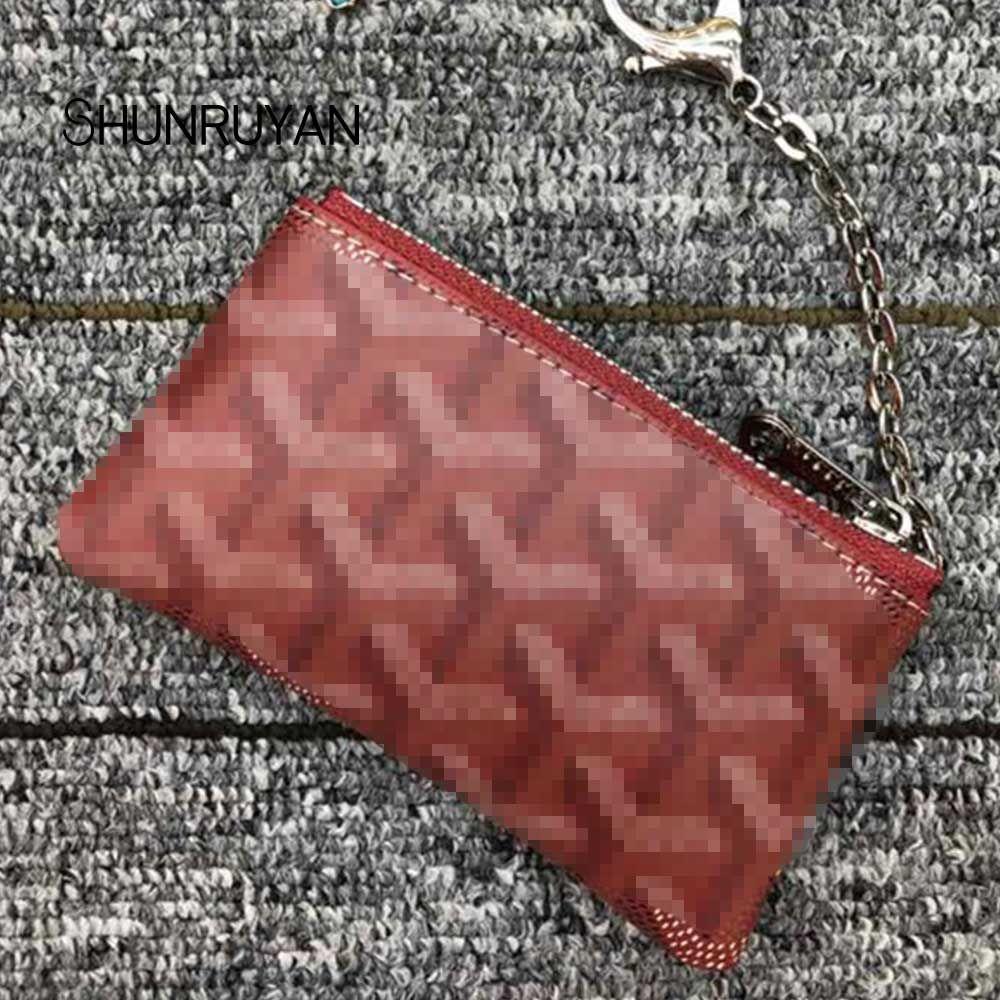 SHUNRUYAN Mode portefeuilles voor women modus kleine Broekzak mini sleutel portemonnee mini