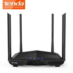 Tenda AC10 1200 Мбит/с Беспроводной Wi-Fi роутер двухдиапазонный 2,4G/5G 1 WAN + 3 знака после LAN гигабит Порты и разъёмы 802.11AC 1 ГГц Процессор 128 DDR3 смарт-прил...