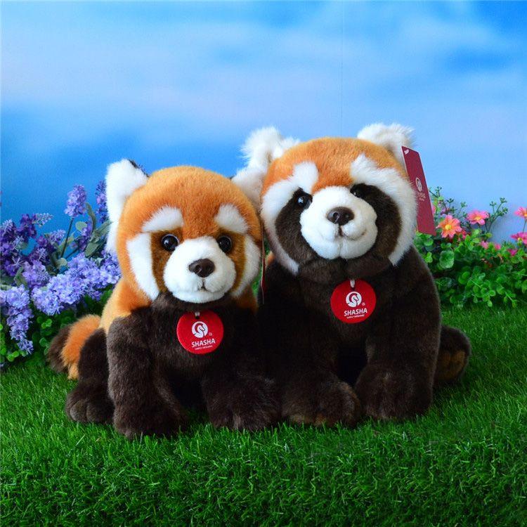 Haute Qualité Simulation Rouge Panda En Peluche Jouets En Peluche Animal Jouet Doux Moindre Panda Poupées Enfants Jouets